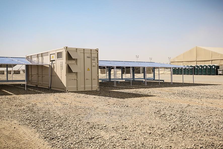 "Erste Einsatzdemon-stration des FABER Solarstrom-Containers ""Mobile Power System"""