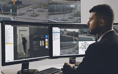 Videoüberwachung und IP-Zutrittskontrolle auf einer Oberfläche